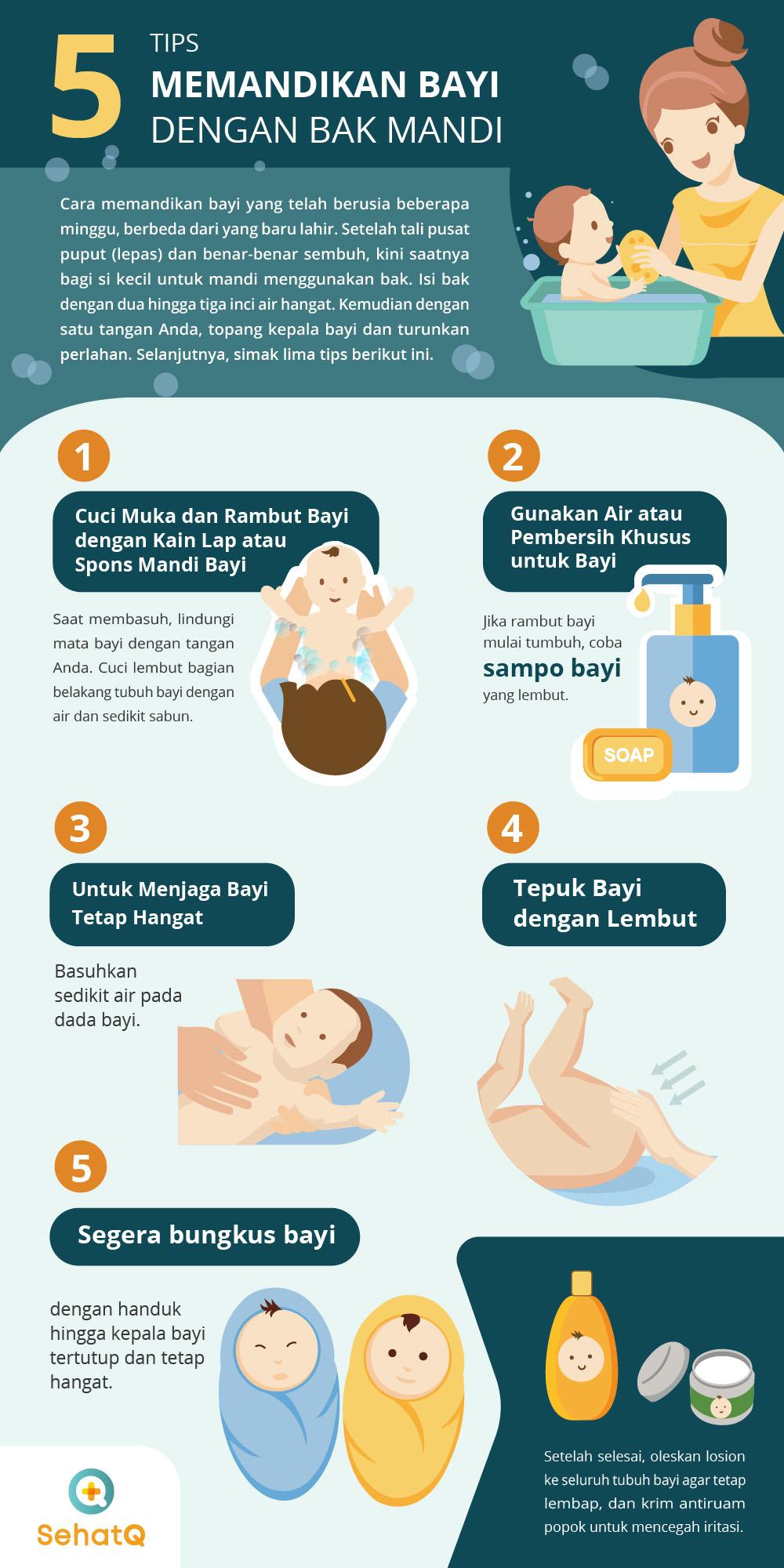 tips memandikan bayi baru lahir