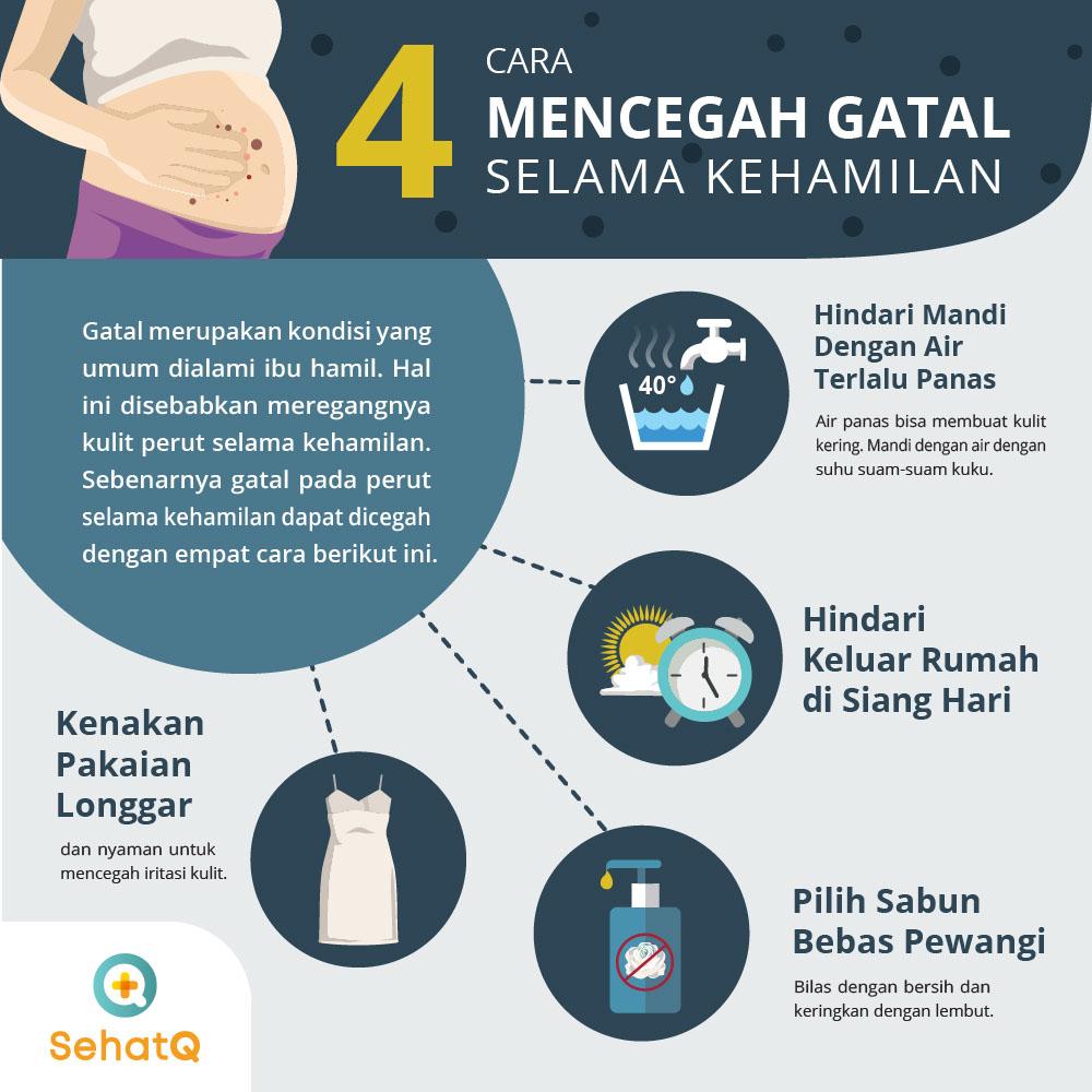 mencegah gatal saat hamil