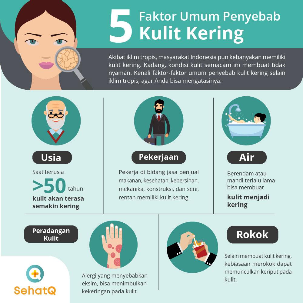 faktor penyebab kulit kering