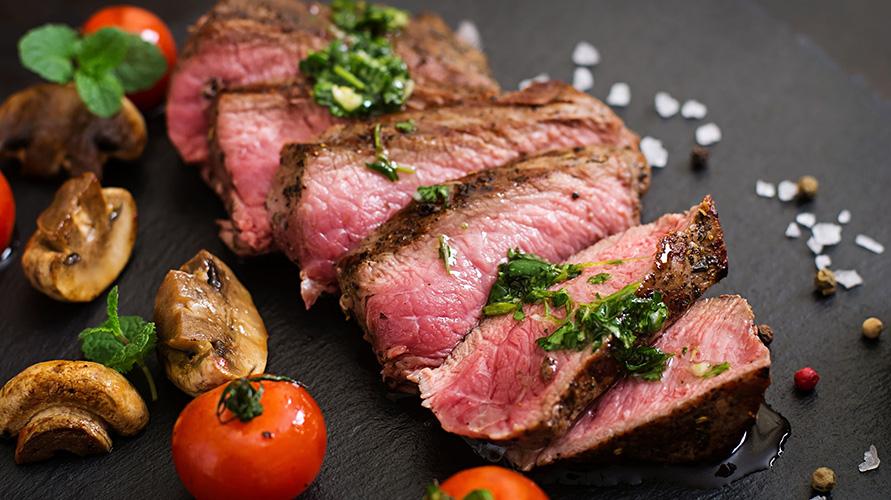 Daging kaya protein dan zat besi