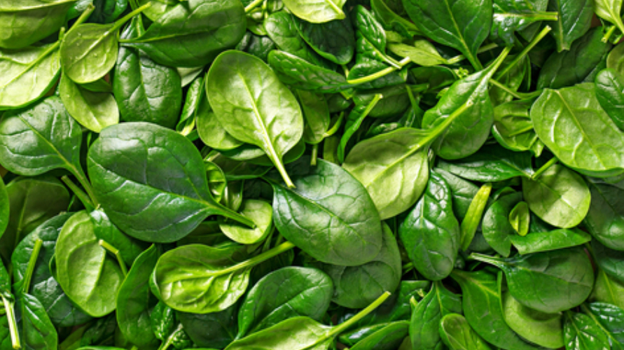 Bayam adalah makanan yang mengandung magnesium