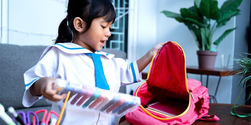 anak bersiap sekolah