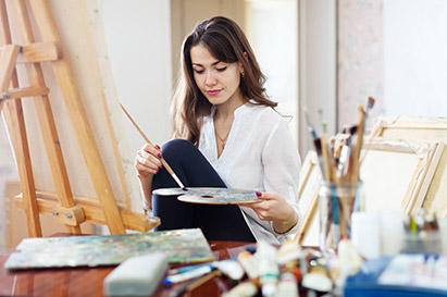 terapi seni seperti melukis dapat membantu menyingkirkan stres