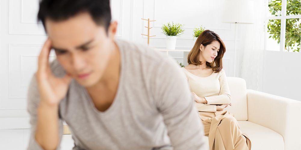 Gamophobia umumnya disebabkan karena trauma seperti perceraian dengan pasangan maupun dari orangtuanya