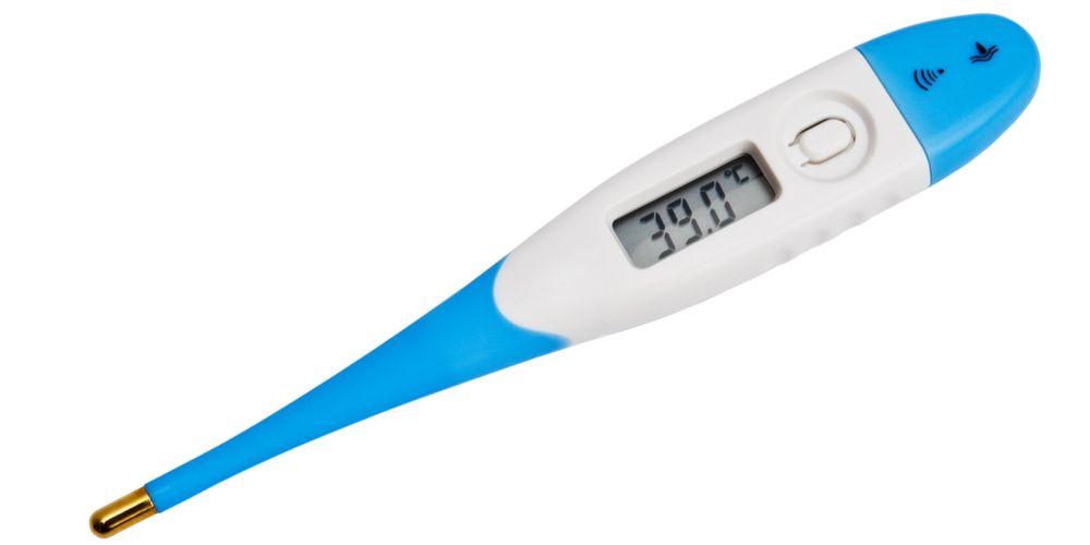 Termometer digital untuk mengukur suhu normal bayi