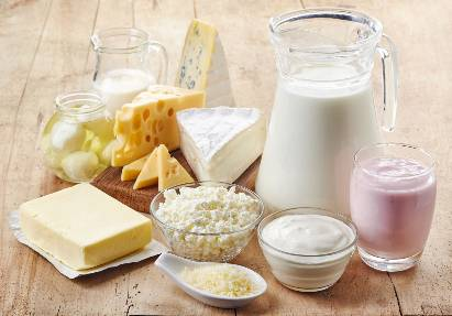 Produk susu food combining