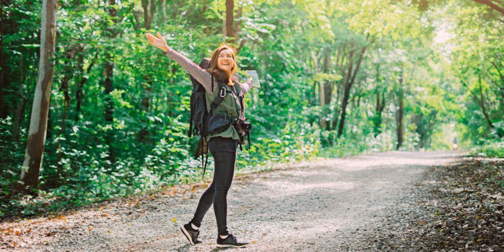 stres berkurang saat hiking
