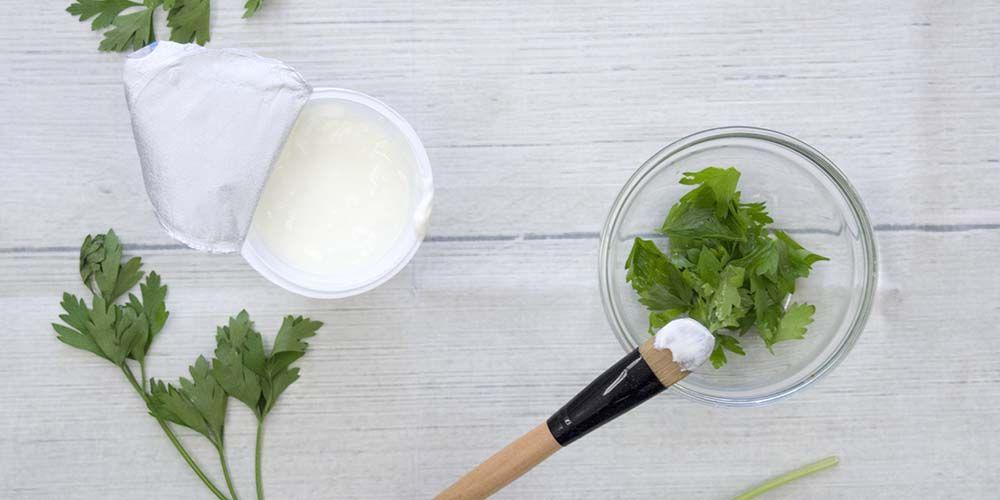 Masker rambut alami dari yogurt