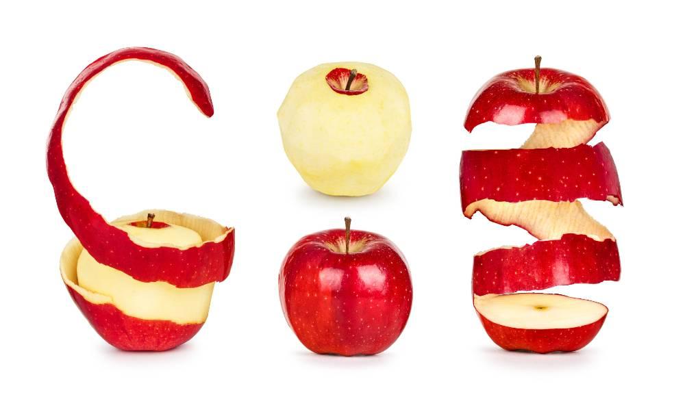 Manfaat kulit apel dapat dilihat dari kandungan nutrisinya yang lebih banyak