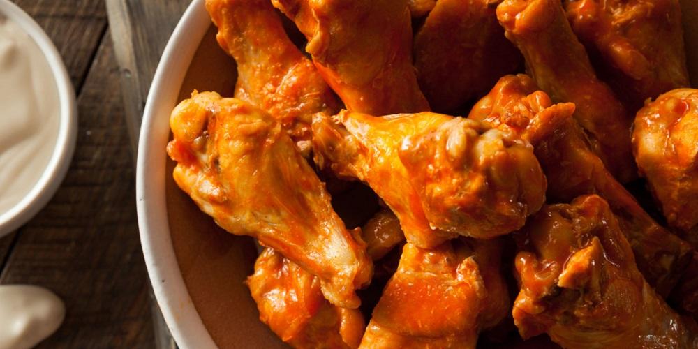 Sayap ayam saus pedas, menu diet karbo