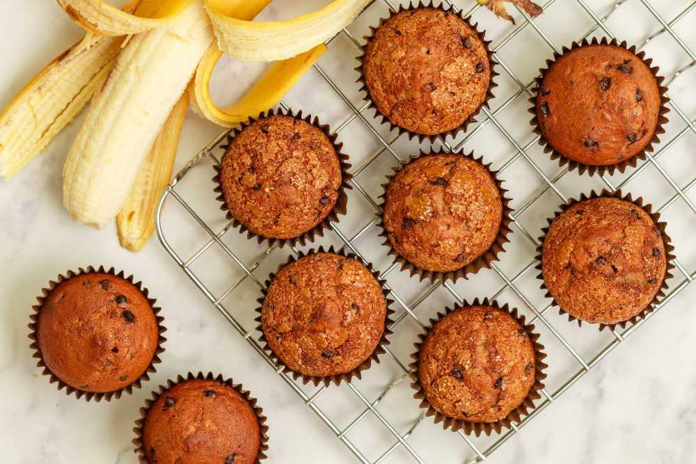 Muffin pisang dan oatmeal bisa jadi olahan pisang untuk buka puasa