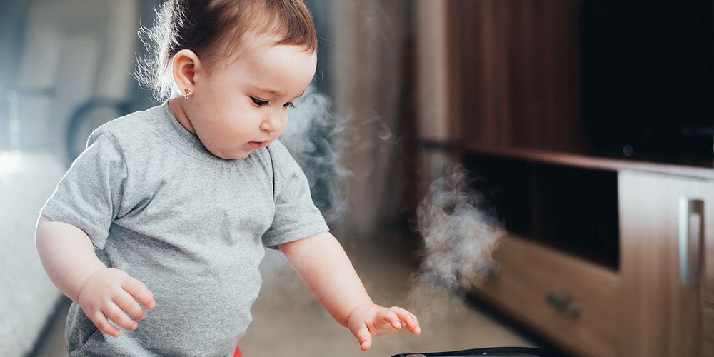bayi dan asap