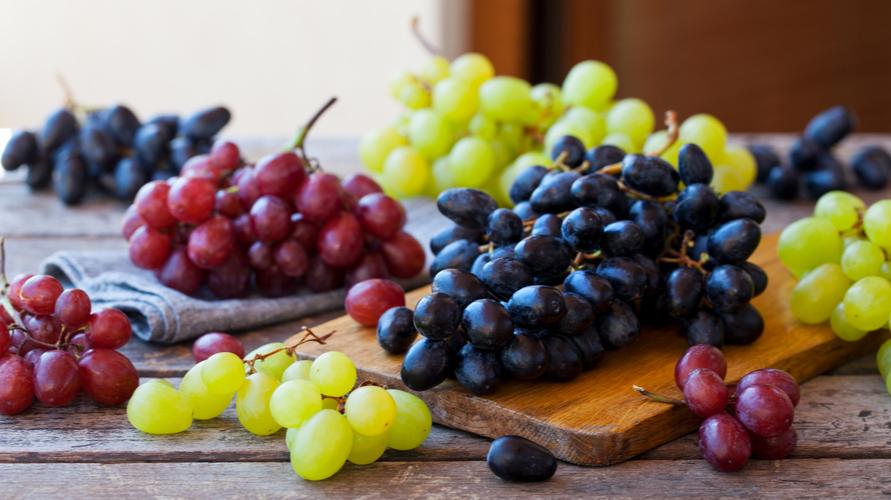 anggur merah hitam hijau
