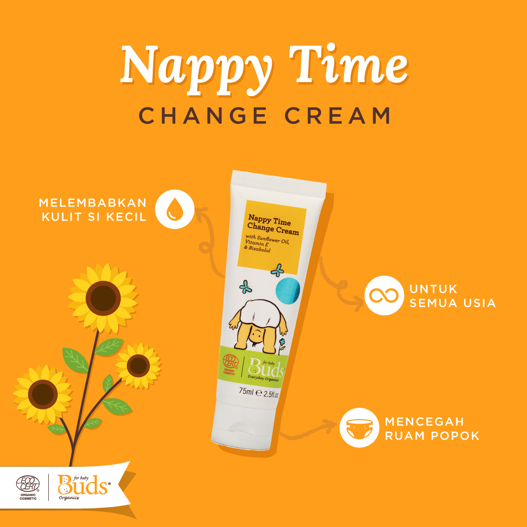 Buds Organic nappy time change time cream