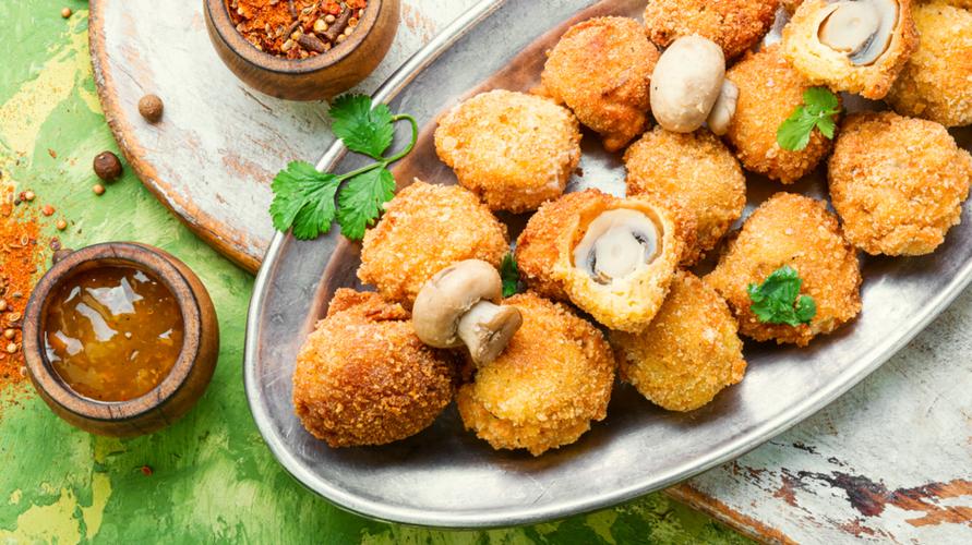 Agar tambah renyah, resep jamur kancing memakai tepung roti