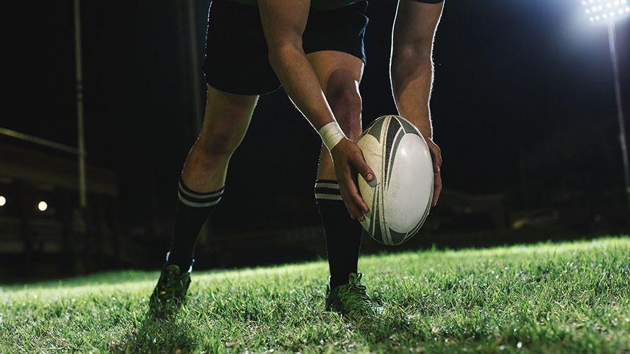 Bola rugby permainan bola besar