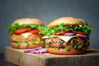 Burger tempe cocok dimakan oleh Anda yang vegetarian