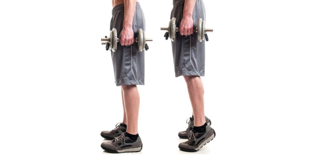 Gerakan calf raise untuk latihan otot kaki