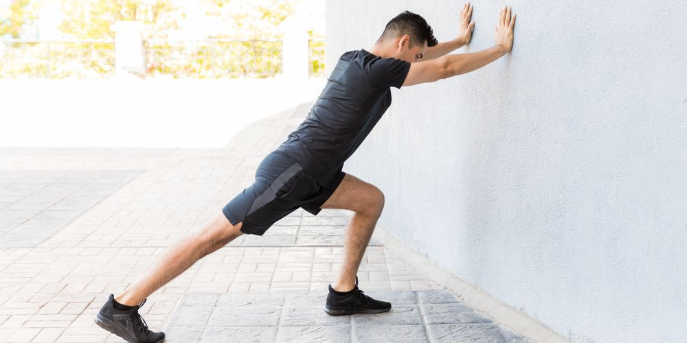 Calf stretch gerakan peregangan kaki