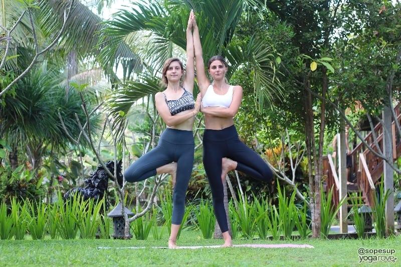 double tree yoga pose