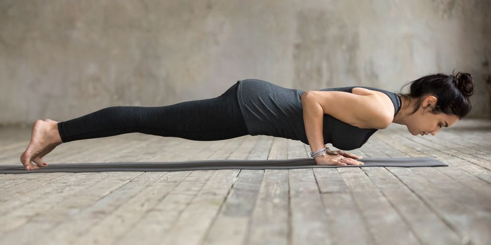 Four limbed yoga pose yoga namaskar