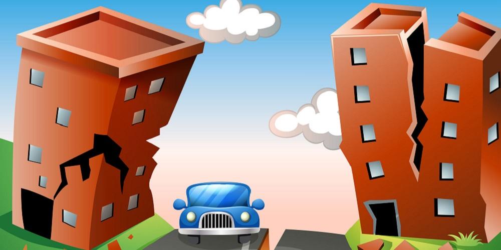 Cara menghadapi gempa bumi saat sedang ada di dalam mobil