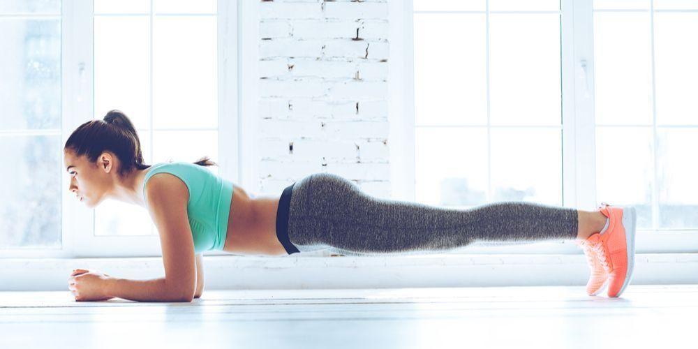 Olahraga untuk mengecilkan perut dan paha plank