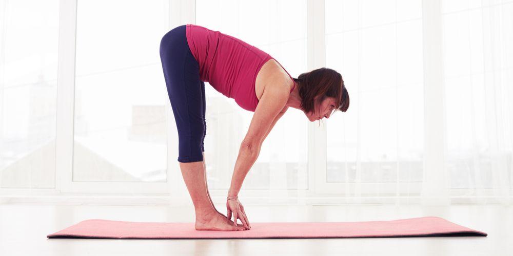 Yoga namaskar sun salutation half standing forward bend