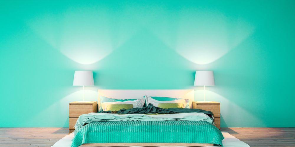 Warna cat kamar tidur yang menenangkan adalah hijau mint