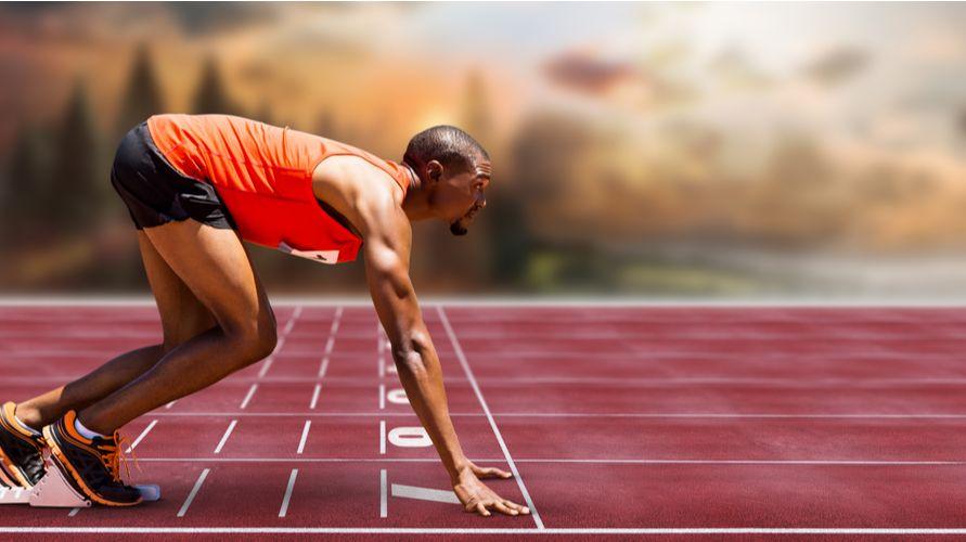 Lari jarak pendek salah satu cabang olahraga lari dalam atletik
