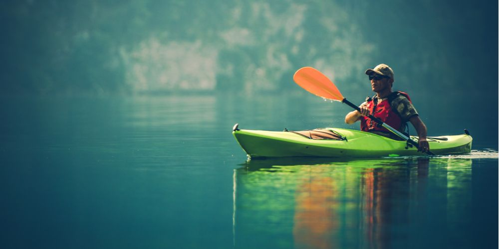Kayak olahraga air yang melatih jantung