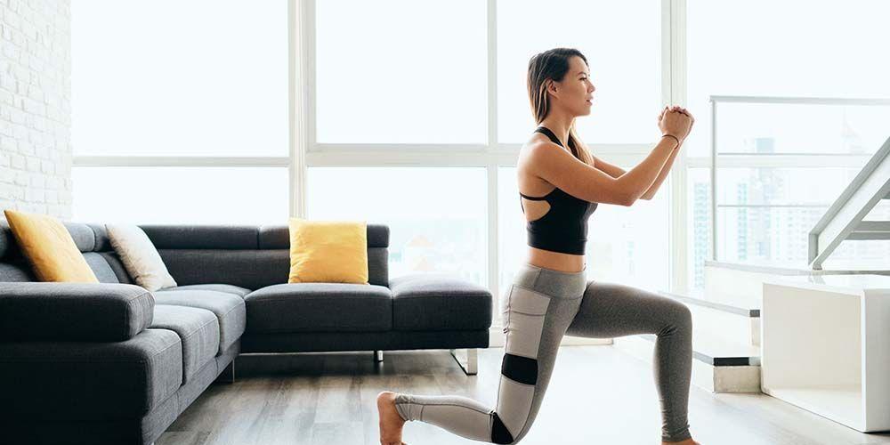 Posisi lunges latihan otot kaki