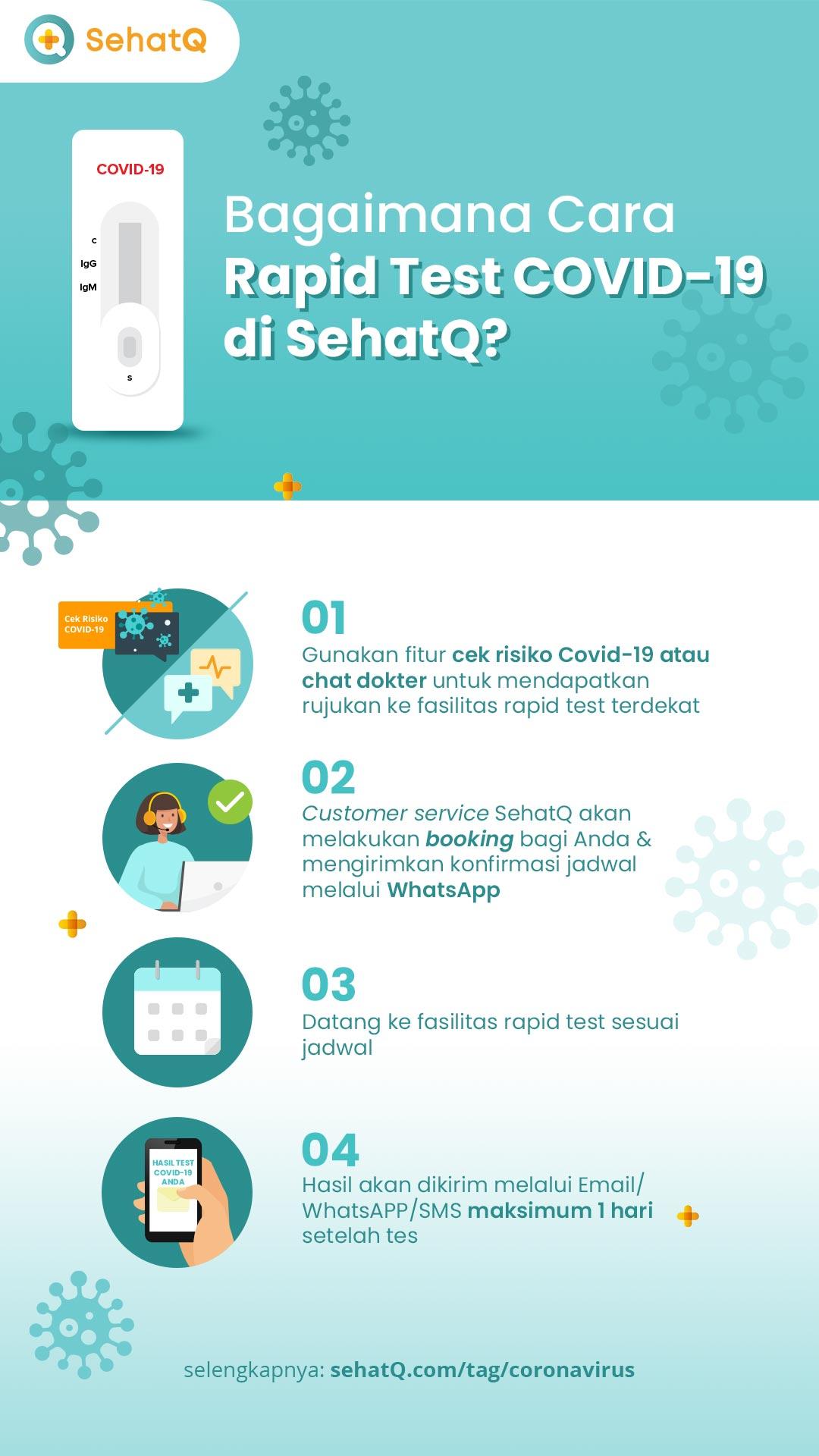 cara rapid test gratis di SehatQ