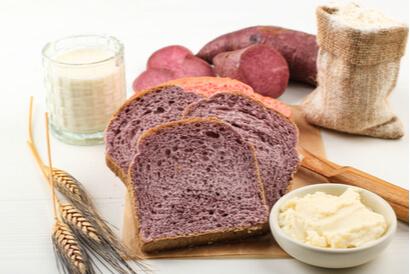 Roti tawar dari olahan ubi ungu cocok untuk yang sedang berdiet