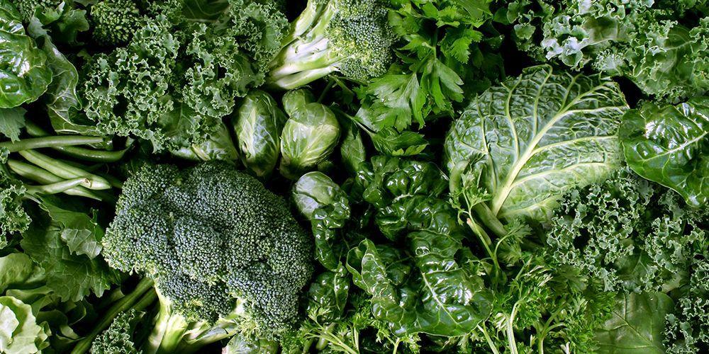 Sayuran hijau makanan jantung