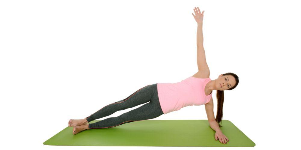 Variasi gerakan plank salah satunya side plank