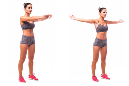 Cara membesarkan payudara dengan gerakan arm press