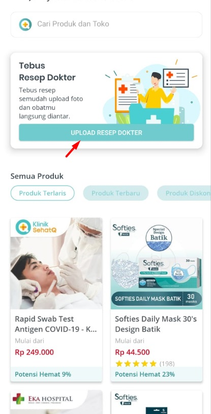 Cara beli obat online di aplikasi sehatq